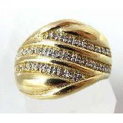 Anel De Ouro 18k750 Diamantes! 596