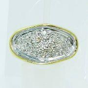 Anel De Ouro 18k750 Diamantes 466