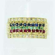 Anel De Ouro 18k750 Diamantes 2509