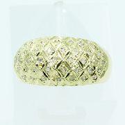 Anel De Ouro 18k750 Diamantes 2527