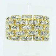 Anel De Ouro 18k750 Diamantes 2565