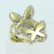 Anel De Ouro 18k750 Diamantes 619