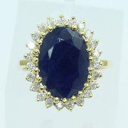 Anel De Ouro 18k750 Diamantes Safiras 2597