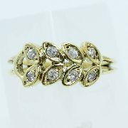 Anel De Ouro 18k750 Diamantes 879