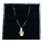 Colar De Ouro 18k750 Coração Diamantes C55
