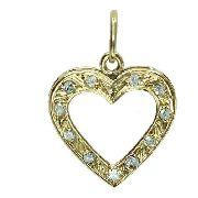 Pingente De Ouro 18k750 Diamantes P744