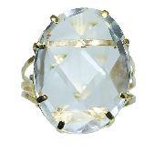 Anel De Ouro 18k750 Cristal 12x S/j Ft/gt 2628