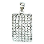 Pingente De Ouro Branco 18k750 Diamantes P751