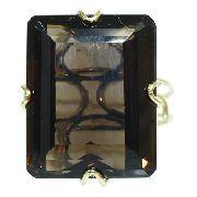 Anel Ouro 18k750 Quartzo Fumê 12x S/j Ft/gt 2661