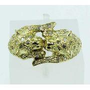 Anel De Ouro 18k750 Diamantes Tigres 2122