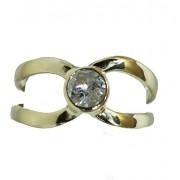 Anel De Ouro 18k750 Diamante 12x S/j Ft/gt 2721