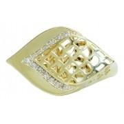 Anel De Ouro 18k750 Diamantes 12x S/j Ft/gt 2741