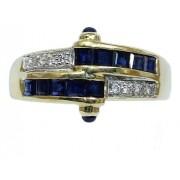 Anel De Ouro 18k750 Diamantes 12x S/j Ft/gt 2786