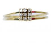 Anel De Ouro 18k750 Diamantes 2954