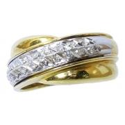 Anel De Ouro 18k750 Diamantes 2962