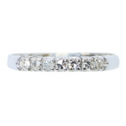 Anel De Ouro 18k 750 Diamantes 2860