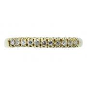 Anel De Ouro 18k 750 Diamantes 2867