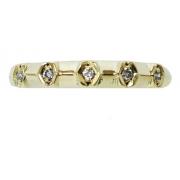 Anel De Ouro 18k 750 Diamantes 2886