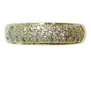 Anel De Ouro 18k 750 Diamantes 2923
