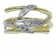 Anel De Ouro 18k 750 Diamantes Vivara 2823