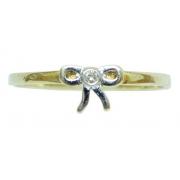 Anel De Ouro 18k 750 Diamantes Vivara 2835