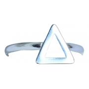 Anel De Prata 925 Modelo Triângulo