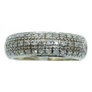 Anel Ouro Branco 18k Diamantes 12x S/j Ft/gt 2729