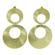 Brinco De Ouro 18k750 Diamante 12x Sj Ft/gt B330