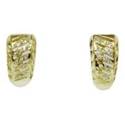 Brinco De Ouro 18k750 Diamantes B954