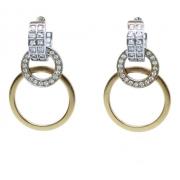 Brinco De Ouro 18k750 Diamantes B961