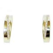Brinco De Ouro 18k750 Diamantes B963