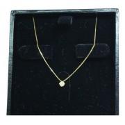 Colar De Ouro 18k750 Diamante 12x S/j Ft/gt C369