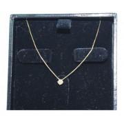 Colar De Ouro 18k750 Diamante 12x S/j Ft/gt C370