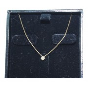 Colar De Ouro 18k750 Diamante 12x S/j Ft/gt C374