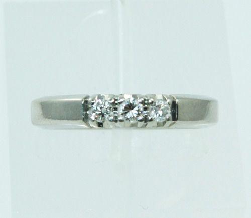 Anel De Ouro Branco 18k750 Diamantes 2279