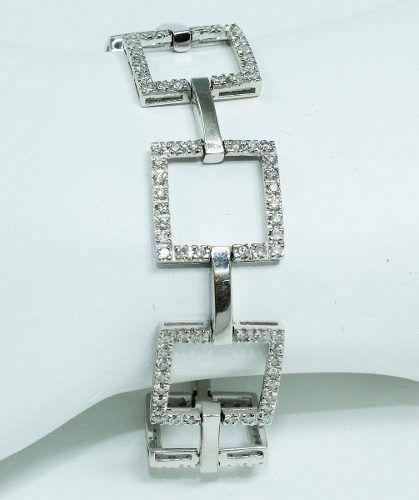 Pulseira Ouro Branco 18k750 Diamantes Vivara Pu57