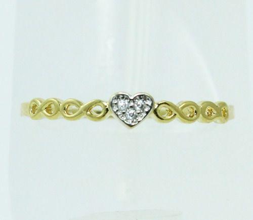 Anel De Ouro 18k750 Coração Diamantes 2287
