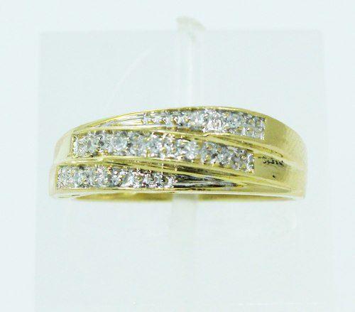 Anel De Ouro 18k750 Diamantes 2293