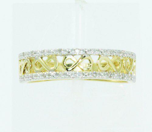 Anel De Ouro 18k750 Diamantes 2292