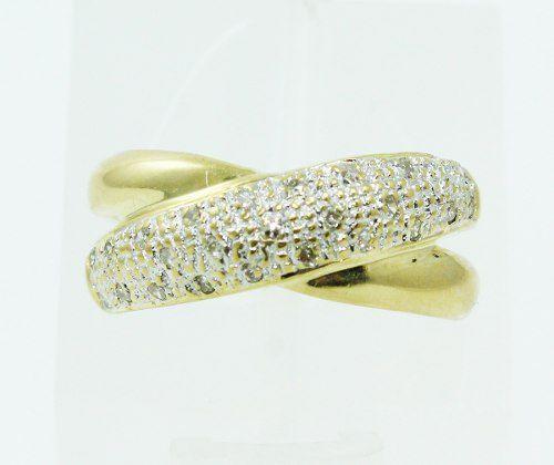Anel De Ouro 18k750 Diamantes 2295