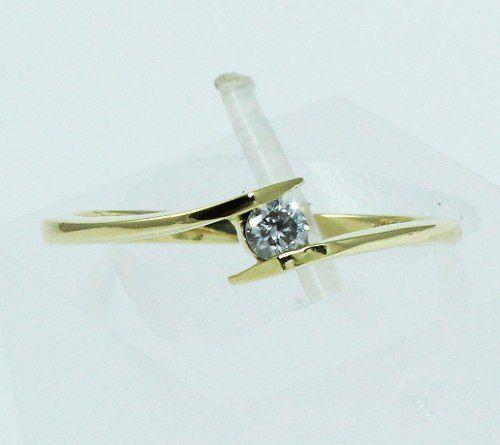 Anel De Ouro 18k750 Diamante 1697