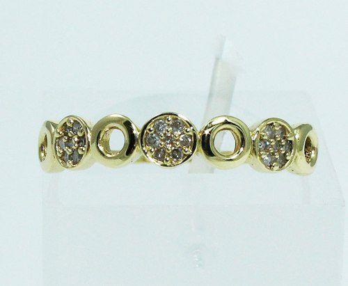Anel De Ouro 18k750 Diamantes 1694