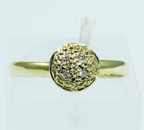 Anel De Ouro 18k750 Diamantes 1687