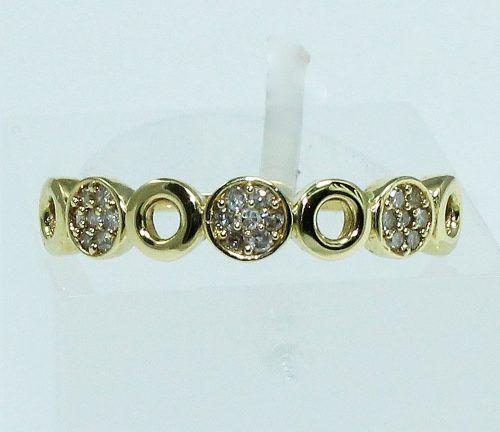 Anel De Ouro 18k750 Diamantes 1686
