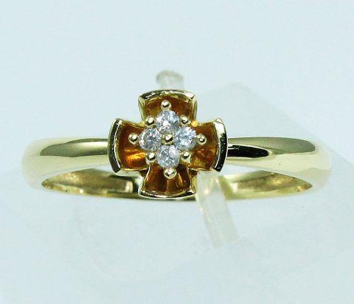 Anel De Ouro 18k750 Diamantes 1668