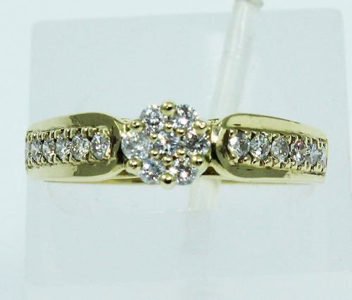 Anel De Ouro 18k750 Diamantes 1655