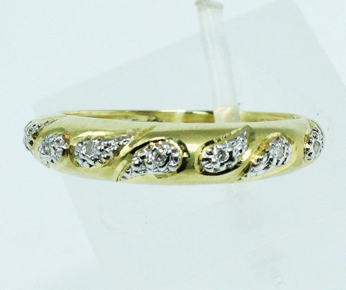 Anel De Ouro 18k750 Diamantes 1652