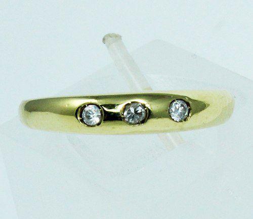 Anel De Ouro 18k750 Diamantes 1651