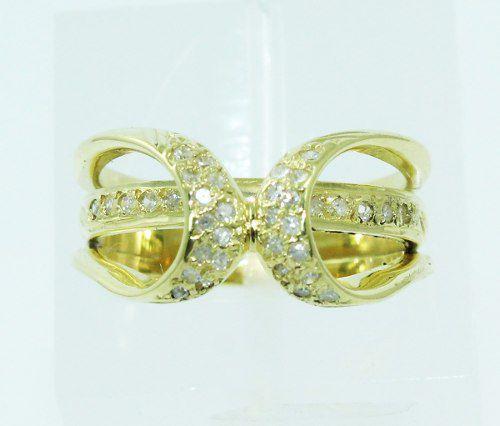 Anel De Ouro 18k750 Diamantes 1635
