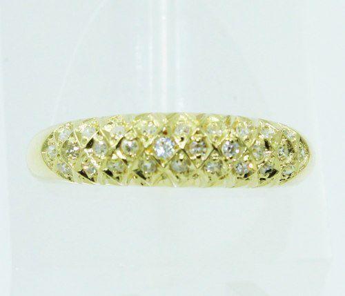 Anel De Ouro 18k750 Diamantes 2312